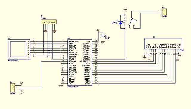 1333478387 247513417 AVR微控器製作的 單鍵式密碼鎖