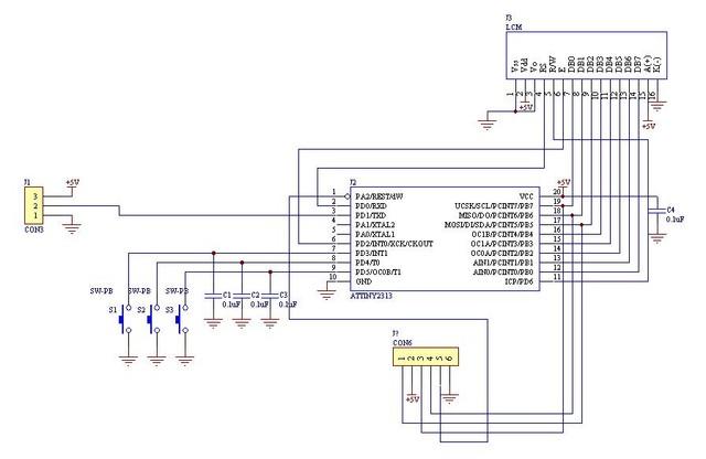 1333478387 3260600256 AVR微控器製作的 單鍵式密碼鎖