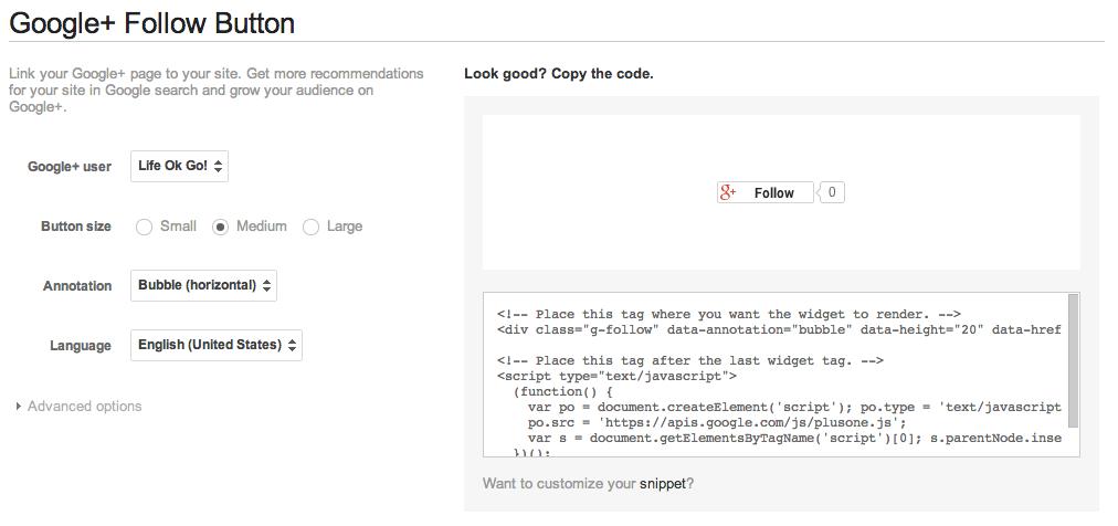 螢幕快照 2013 08 19 上午11.03.18 在網站加入Google+專頁跟隨功能